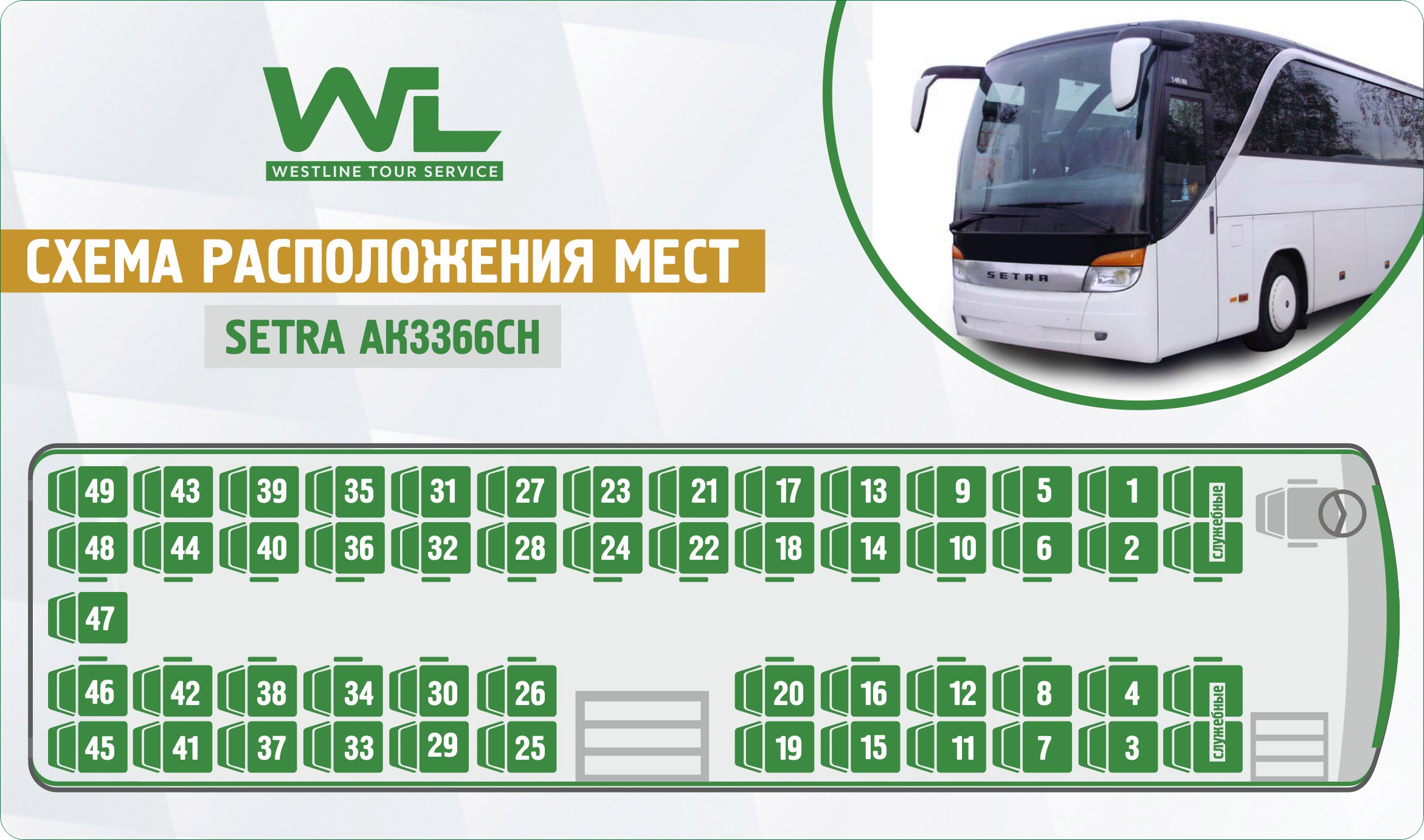 Ecolines места в автобусе схема