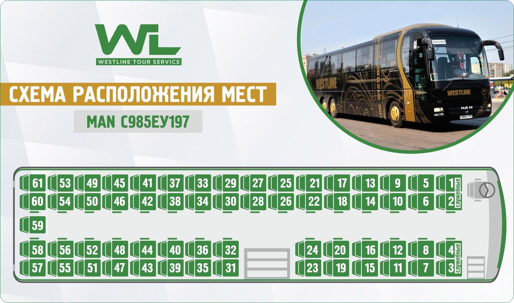 Схема рейсовых автобусов