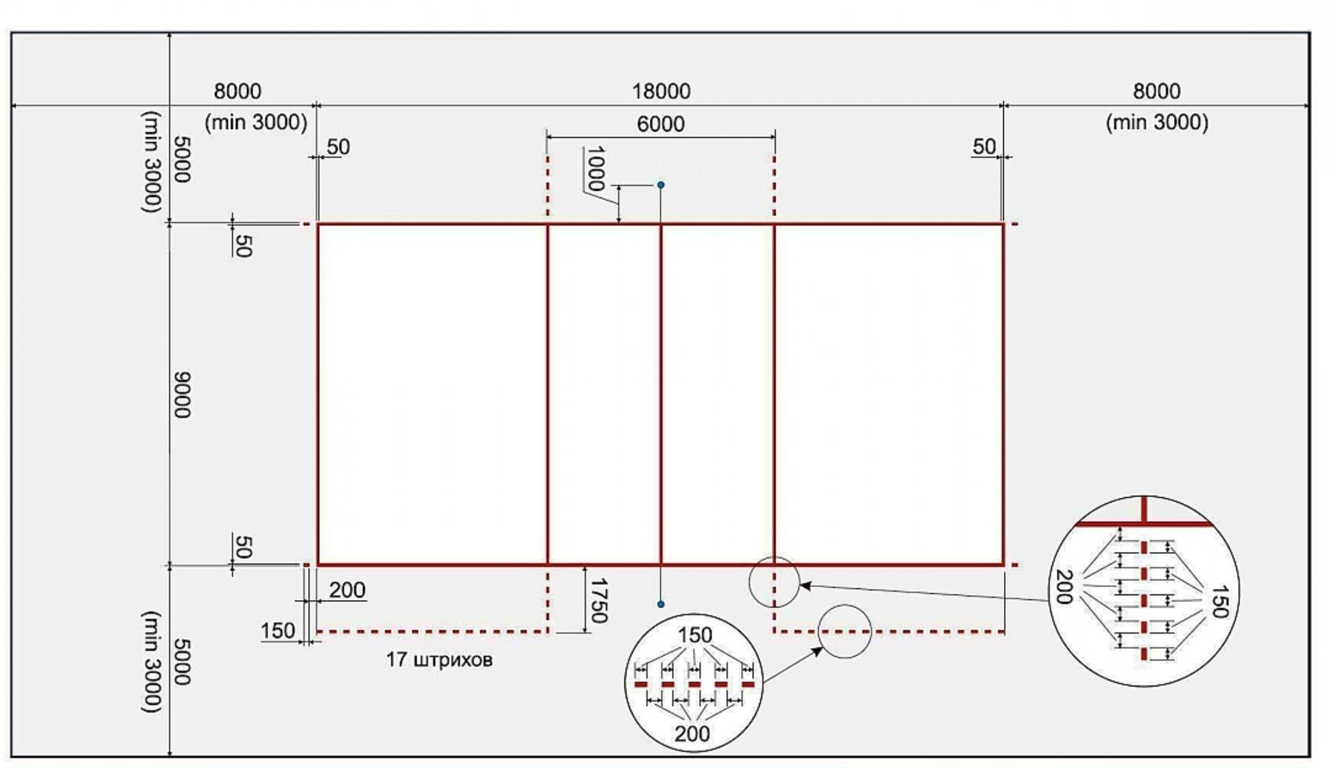 Схема размер и разметка волейбольной площадки6