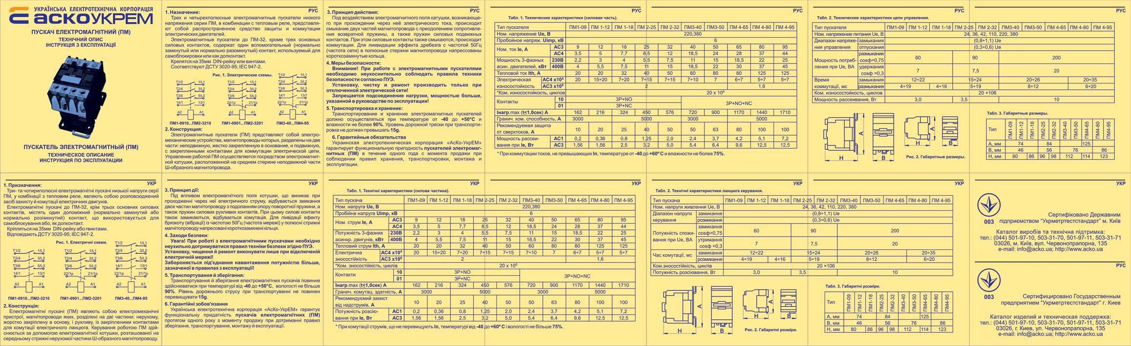 Магнитный пускатель 220в схема